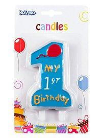 Geburtstagskerze My 1st Birthday blau