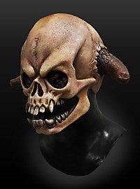 Gehörnter Dämonenschädel Maske aus Latex