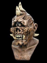 Gehörnter Zyklop Deluxe Maske aus Latex