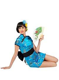 Geisha blau Kostüm