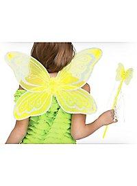 Gelbe Fee Accessoire Set für Kinder
