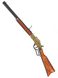Gewehr Winchester messing graviert Dekowaffe