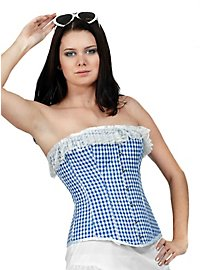 Gingham Corset blue & white