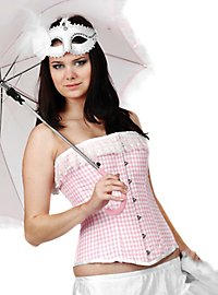 Gingham Corset pink & white