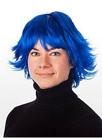 Girlie blau Perücke