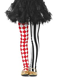 Girls tights with harlequin pattern