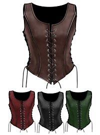 Gladiatorin Lederrüstung schwarz