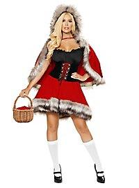 Glamour Rotkäppchen Kostüm