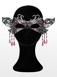Glistening Butterfly Leather Eye Mask