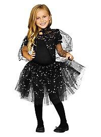 Glitter cape & tutu for kids black