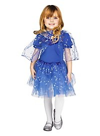 Glitter cape & tutu for kids blue