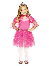 Glitter cape & tutu for kids pink