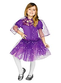 Glitter cape & tutu for kids purple