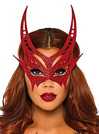 Glitter devil eye mask