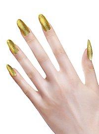 glitter fingernails gold