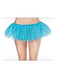 Glitter Petticoat türkis