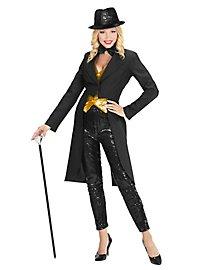 Glitter Showmasterin schwarz Kostüm