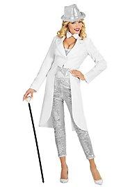 Glitter Showmasterin weiß Kostüm