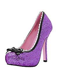 Glitzer High Heels lila