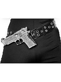 Glitzer-Pistole mit Gürtel