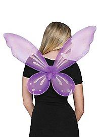 Glitzerflügel lila