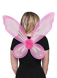 Glitzerflügel rosa