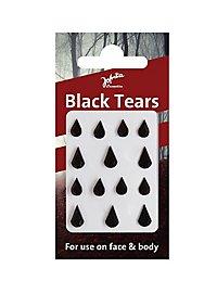 Glitzertränen fürs Gesicht zum Aufkleben schwarz