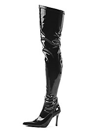 Glossy Over-the-Knee Boots