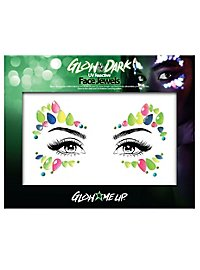 Glow in the Dark face jewelry blossom