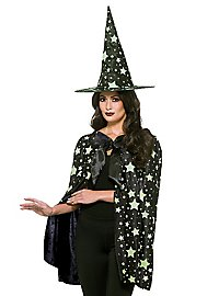 Glowing Midnight Witch Costume Set