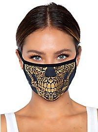 Goldener Totenkopf Mundschutz Maske