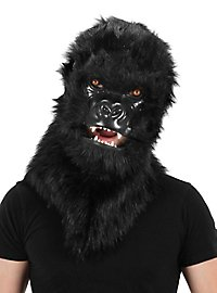Gorilla mask with movable mouth