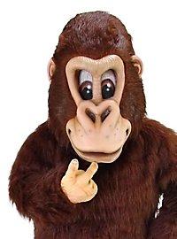 Gorille marron Mascotte