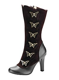 Gothic Butterfly Boots brown