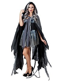 Gothic cape gray-black
