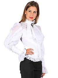 Gothic frill blouse white
