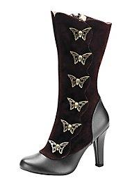Gothic Schmetterling Stiefel braun