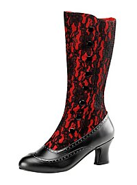Gothic Stiefel rot