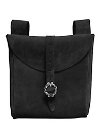 Grande sacoche de ceinture en daim