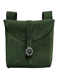 Grande sacoche de ceinture en daim vert