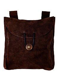 Grande sacoche de ceinture marron