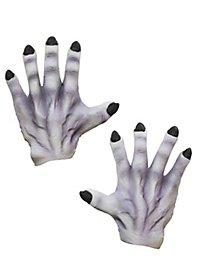 Graue Monsterhände aus Latex