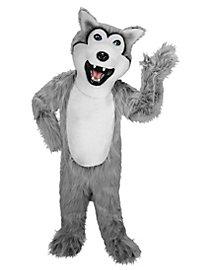 Grauer Husky Maskottchen