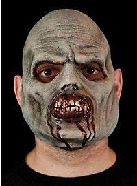 Grauer Zombie Halbmaske aus Latex