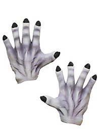 Gray Monster Hands made of latex