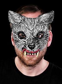 Gray Wolf Latex Half Mask