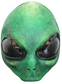Green alien half mask for children