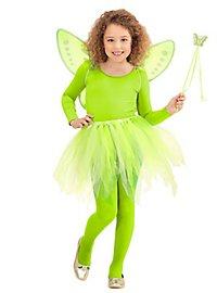 Green fairy accessory set for children