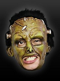 Green Frankenstein Chinless Mask Made of Latex