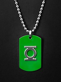 Green Lantern Edelstahl Dog Tag grün